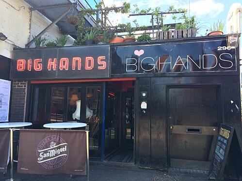 big hands manchester bar free alcohol beer terrace
