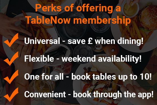 perks of offering a tablenow membership